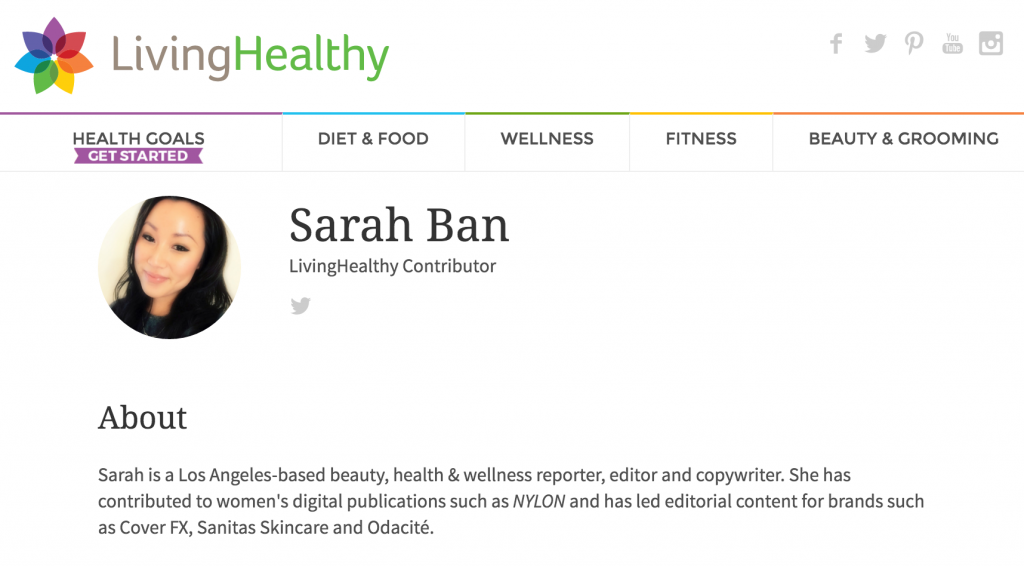 freelance beauty copywriter sarah ban