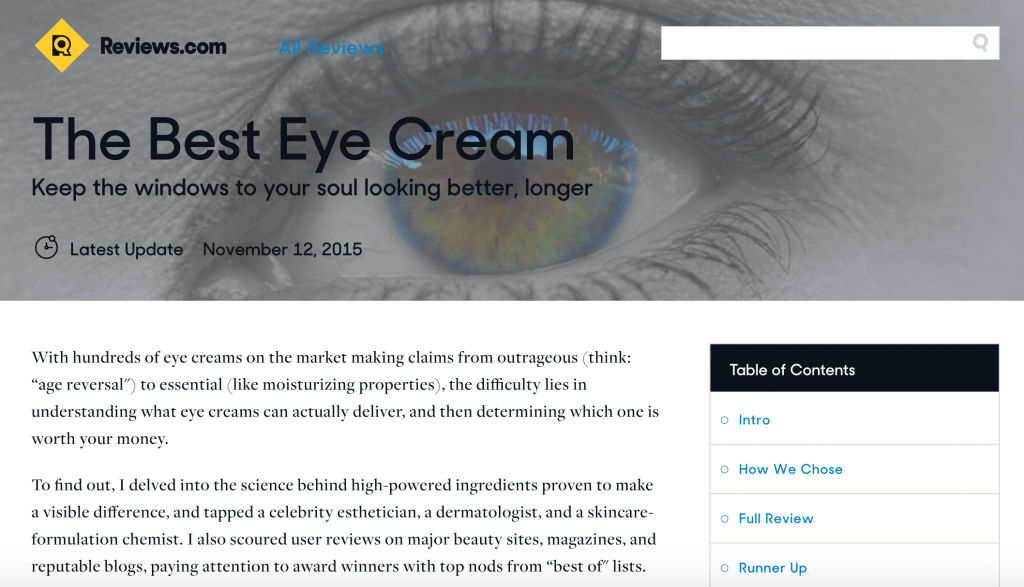 best eye cream writer sarah ban